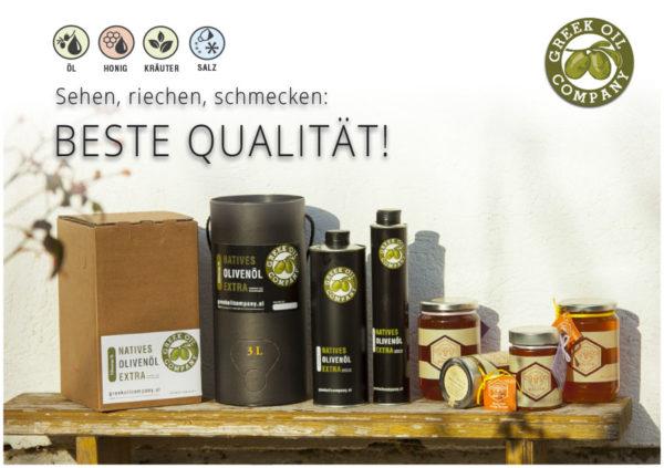 Produktübersicht Greekoil Company