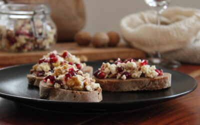 Feta-Walnuss-Granatapfel-Antipasto